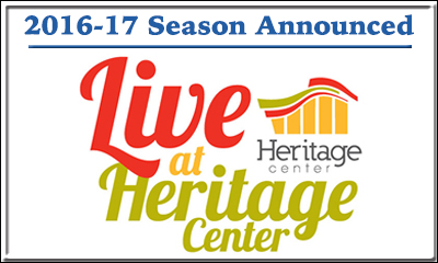 Live at Heritage Center 2016-17 Announced  (400x240)