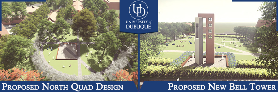 Proposed Designs for Bell Tower and New North Quad (Updated 7-19-18